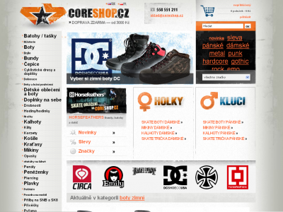 6366b763347 Core Shop – obchod se skate a ska módou
